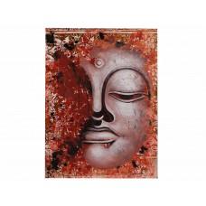 Quadro com Rosto do Buda em Rosê