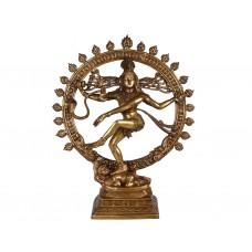 Escultura de Shiva Nataraja em Bronze Maciço