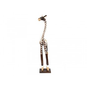 Girafa Madeira Entalhada 60 cm