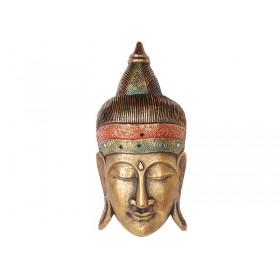 Máscara África Coroa Com Espelhos Gold 50 cm