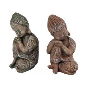 Buda Menino Pedra Mão no Joelho