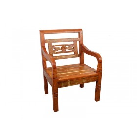 Cadeira Madeira Floral Demolição