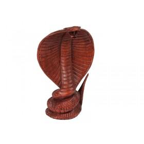Cobra Naja de Madeira 20cm