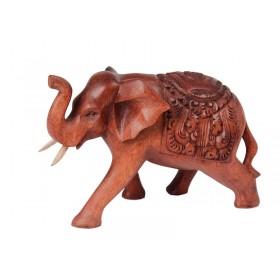 Elefante Manto Entalhado 15cm