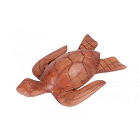 Tartaruga em Madeira Suar 20cm