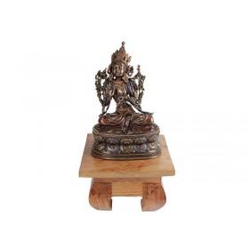 Escultura Deusa Tara Sentada