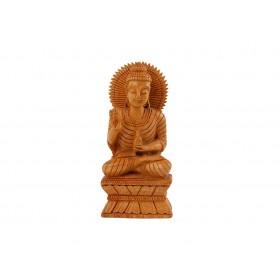 Buda Decorativo em Madeira 16cm