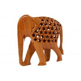Escultura de Elefante com Filhote