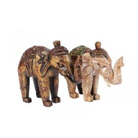 Elefante Indiano de Madeira 15cm
