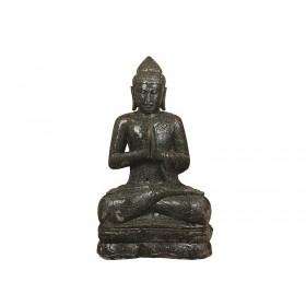 Escultura Buda de Pedra Vulcânica 100cm