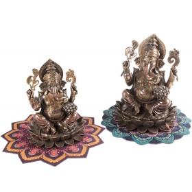 Escultura de Ganesha Sentado Lótus