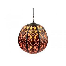 Luminária Marroquina Globo Laranja