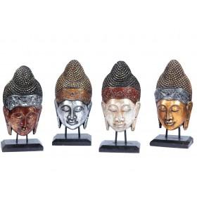 Máscara de Buda no Pedestal 40cm