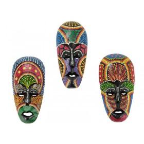 Máscara Africana Pontilhismo Colorido