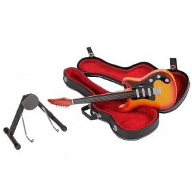 Guitarra Miniatura Stratocaster Laranja e Preta
