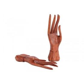 Par de Mãos em Madeira Suar