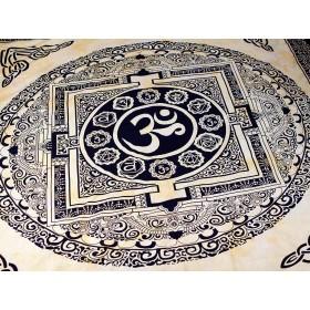 Tecido Indiano Símbolo do Om