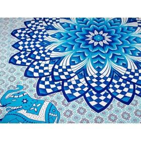 Manta Indiana Mandala Azul