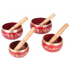 Tigelas Tibetanas Vermelhas