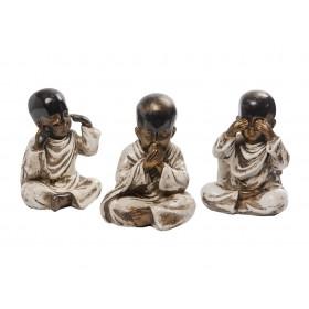 Trio de Budas da Sabedoria Resin