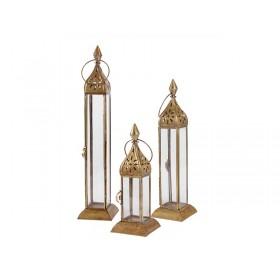 Trio de Lanternas Latão Marrocos Medina