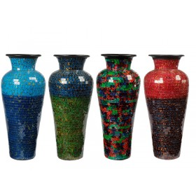 Vaso Bali Style em Mosaico Médio
