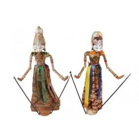 Marionete Original Golek Balinesa com Base 70cm