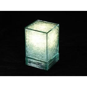 Abajur em Vidro Cubo