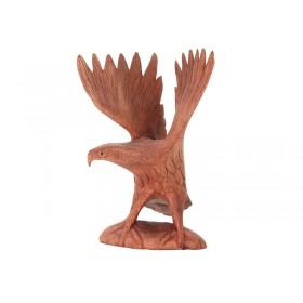 Escultura Águia Pousando com Asas Abertas