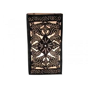 Luminária Marroquina Arandela metal renda arabesco rabat branca