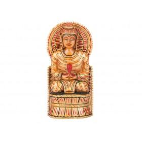 Buda Indiano em Madeira 16cm
