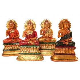 Buda Indiano em Madeira 20 cm