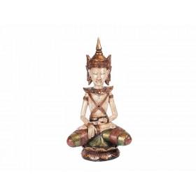 Buda Tailândia em Madeira Bumisparsha