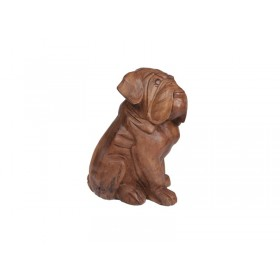 Escultura Cachorro Bulldog Natural
