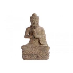 Buda Gratidão em Pedra 40cm