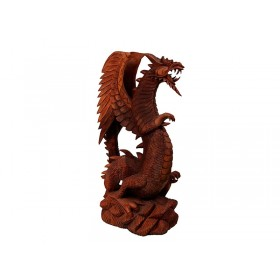 Estátua Dragão Alado Natural Grande