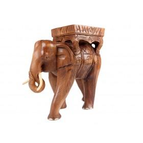 Elefante Tailândes em Madeira Teca