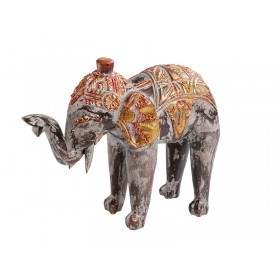 Elefante Indiano Gold Red 25cm