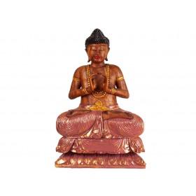 Escultura Buda Grande em Madeira 1mt