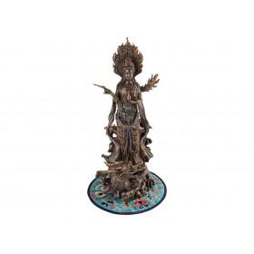 Escultura Kuan Yin Com Dragão