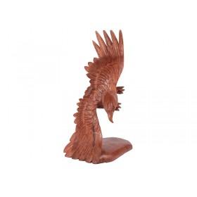 Escultura Águia Voando em Madeira Suar