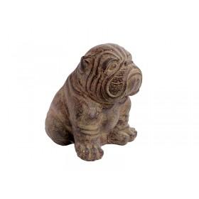 Cachorro Bulldog em Pedra
