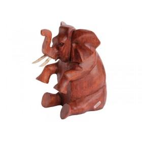 Elefante Esculpido Sentado