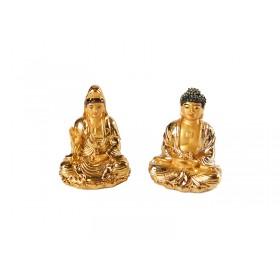 Escultura Mini Buda ou Kuan Yin Golden