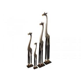 Esculturas de Girafas Entalhadas