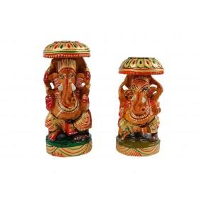 Ganesha Sentado com Guarda Chuva