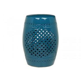Garden Seat Medallion Azul Mykonos 45 cm