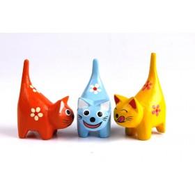 Trio de Gatos Rabinho 8cm