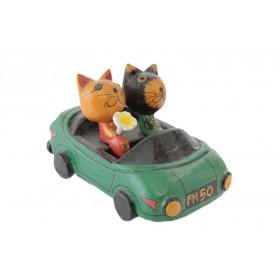Carro com Gatos Antik 10 cm