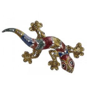 Iguana Decorativa em Ferro Aborigene